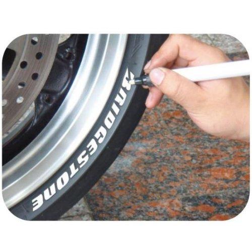Keiti Motorrad Reifenstift Marker TP300W Weißs Test
