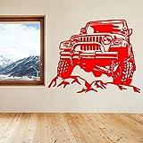 xingbuxin Adesivo da Parete Auto Creativo Auto Rimovibile Moda Auto Decalcomanie in Vinile Decorazioni per la casa per Ragazzi Camera Auto sulla Montagna Poster 2 72x57 cm