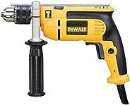 مثقاب ايقاعي 750 وات 13 مم مع مفتاح سرعة متغير للثقب من الخشب المعدني، أصفر/أسود - DWD024-B5، ضمان 3 سنوات من