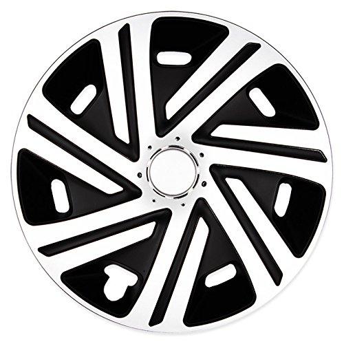 (Größe wählbar) 16 Zoll Radkappen / Radzierblenden CYRKON Schwarz/Weiss passend für fast alle Fahrzeugtypen - universal