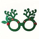 HKFV Weihnachtsschmuck Gläser Rahmen Decor Abend Party Spielzeug kinder Geschenke Weihnachtsdekoration Brille Rahmen Weihnachten Brillengestell Brille HKFV (Grün)