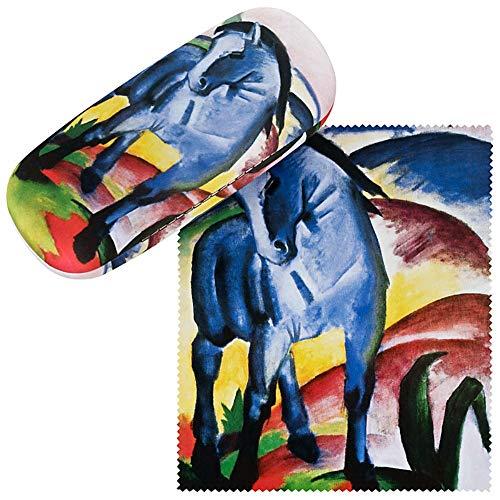 VON LILIENFELD Brillenetui Hardcase Box Kunst Motiv Franz Marc Blaues Pferd