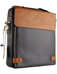 JAMMYLIZARD | JL Pro multifunktionale Leder Notebooktasche Tablettasche bis 12 Zoll, braun
