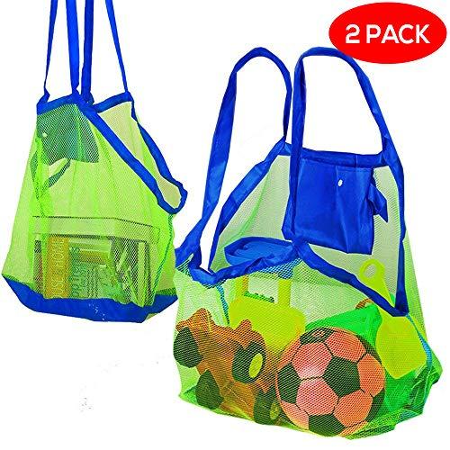 Bramble Set de 2 Bolsas de Malla para la Playa - Perfecta para Juguetes de Niños / Toallas etc - Ideal para Piscina - Bolsas Increíbles para Verano