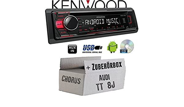 JUST SOUND best choice for caraudio Einbauset f/ür Audi TT 8J Chorus CD//MP3//USB Android-Steuerung Autoradio Kenwood KDC-110UR