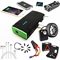 Heavy Duty indigi® 12800mAh Portable Power Bank-Avviatore portatile d'emergenza, Tire & Inflators compressori