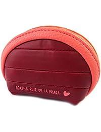Monedero con cremallera 'Agatha Ruiz De La Prada'de color rojo - 10x7x4 cm.