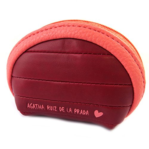 Agatha Ruiz de la Prada [N8693] - Handtasche mit reißverschluss 'Agatha Ruiz De La Prada' rot - 10x7x4 cm.
