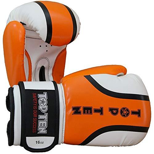 TOP Ten Boxhandschuhe, Rallye, orange-weiß Größe 12 Oz