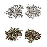 Baoblaze 200 Pezzi Rivetti di Pressione Pulsante Rivetto rapido per Artigianato di Cuoio 6mm