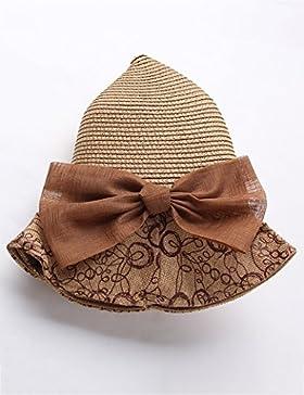 estate Negli anziani signora paglietta Protezione solare ombra grandi gronda spiaggia cappello ( Colore : 1 )