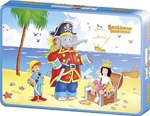 Schmidt Spiele 55886  - Benjamín el Elefante, Benjamin como un Pirata, 40 Piezas en Caja de Metal