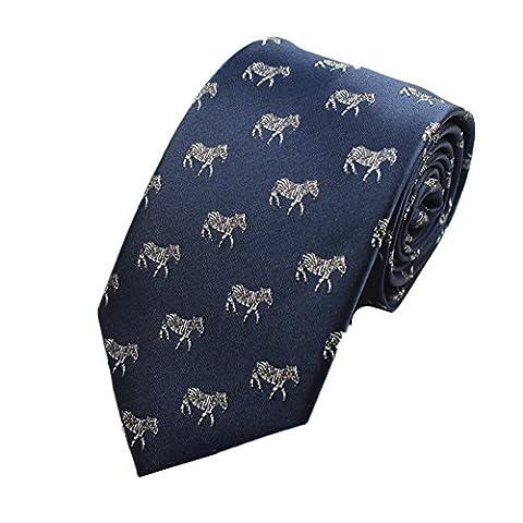 Z-P Mens Kangaroo Pattern Luxury Elegant Necktie Jacquard Skinny Microfiber Tie