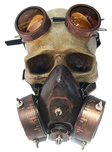 Qiu ping Herren und Damen Fashion Halloween Steampunk Windschutzscheibe Gas Maske