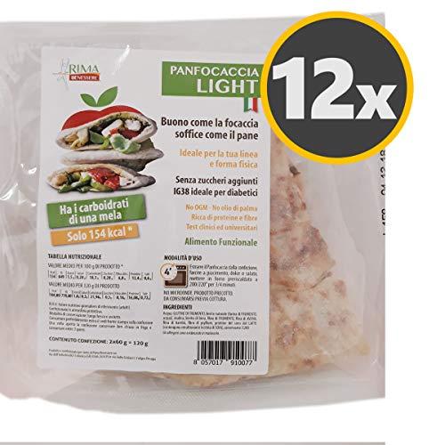 12 PanFocaccia Light RI.MA. Benessere da 120 g. con Proteine