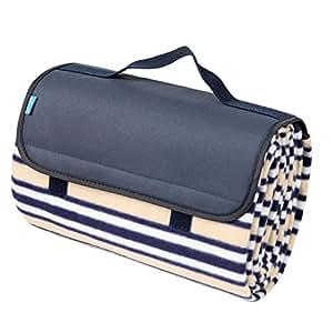 yodo grande couverture de pique nique tanche avec polaire douce pour le camping voyage. Black Bedroom Furniture Sets. Home Design Ideas