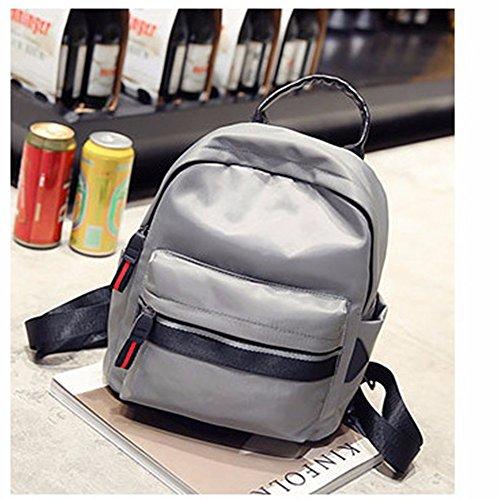 borsa borsa di tela, nylon, oxford, stoffa, signore di borsa, breve,green gray