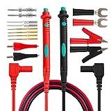 micsoa electrónico Kit de puntas de prueba, multímetro digital lleva con pinzas de cocodrilo sondas de multímetro reemplazable puntas de 16