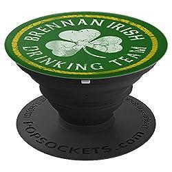 Brennan Irish Drinking Team St Patricks Day Family Surname - PopSockets Ausziehbarer Sockel und Griff für Smartphones und Tablets