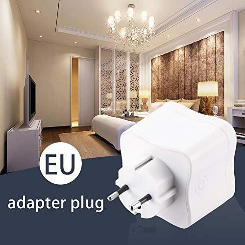 gaeruite WLAN-Smart-Plug, tragbarer Single-Port-WLAN-Smart-Power-Anschluss EU-Stecker Kompatibel mit Google Home Alexa Ac-power-single