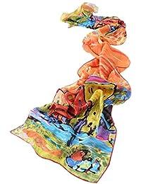 Prettystern - longue écharpe foulard en soie de l art de la peinture,  Kandinsky 1e9cb5b387c
