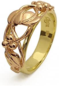 Clogau Gold 9ct Yellow & Rose Gold TLR Unisex Tree of Life Ring