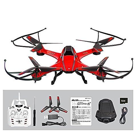 SOMESUN YD- A8 4CH 6-Axis Gyro 0.3MP Caméra RC Quadcopter 360 ° Flips Aircraft Drone Toy Modèle d'avion Hélicoptère (Rouge)