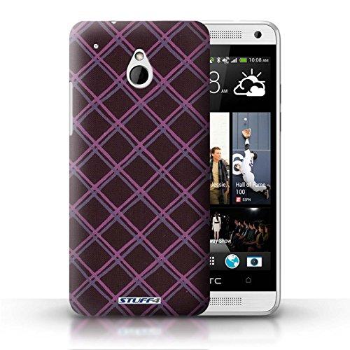 Kobalt® Imprimé Etui / Coque pour HTC One/1 Mini / Jaune/Noir conception / Série Motif Entrecroisé Violet/Noir