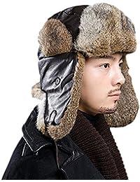 Sombrero De Piel De Bombardero Ruso Gorras De Esquí Ushanka Gorros De Lana  De Invierno Sombrero 9115b85dec0