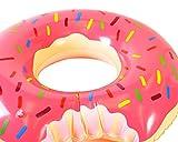 """DSstyles 47 """"riesigen aufblasbaren Donut Pool Spielzeug Float – Pink - 2"""