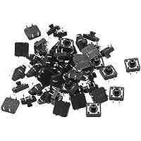 GOZAR 50Pcs Tacto Switch Smt Smd Táctil Interruptor De Membrana Pulsador 12X12 X 7.3 Mm