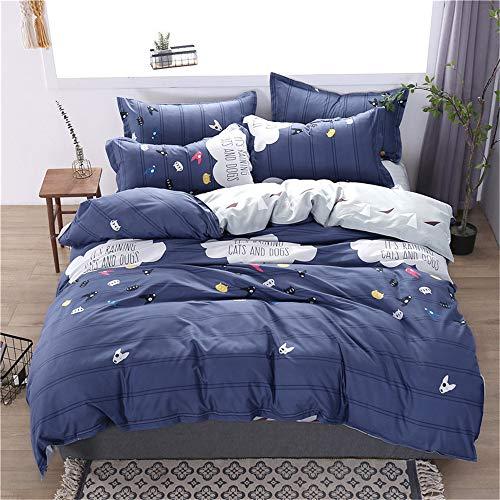 LYJZH Bettwäsche Bettbezug Set, Bettgarnitur Bettwäsche - Gemütlich Mikrofaser mit Bettbezug Kissenbezug Bettwäsche Aloe Baumwolle vierteiliges Set colour12 2.2m