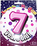 7 years old birthday badge for girl