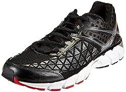 Fila Mens Dashtech Evo Energized Black and Dark Shadow Running Shoes - 6 UK/India (40 EU)