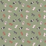 Lewis & Irene Schweine-Stoff LEW458 Schweinchen, 50 x 110