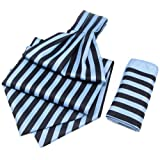 Blue with Navy Candy Strip Cravats with ...