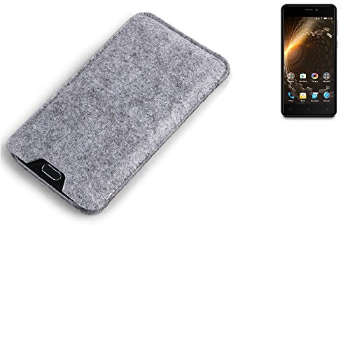 K-S-Trade Filz Schutz Hülle für Allview P9 Energy Mini Schutzhülle Filztasche Filz Tasche Case Sleeve Handyhülle Filzhülle grau