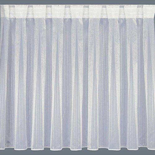 """Preisvergleich Produktbild Fertiggardine Wohnwagenstore """"Mailin"""" sektfarben Glanzgarn / Höhe 60-80cm nach Maß (Wunschhöhe angeben) / Abschluss unten Zinkband oder Stabsaum"""