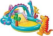 INTEX Dino Slide & Pool, Multi-Colour, 5