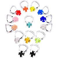 Hicarer 14 Pieces Nose Clip Swimming Nose Plug Swim Nose Protector for Swimming