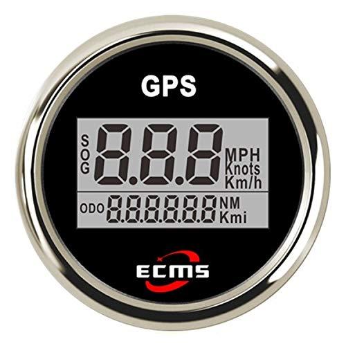 HH-Sensor Sensore Tachimetro Digitale LCD da 2 Pollici da 52 mm GPS per Moto/Barche Marine/Veicolo Impermeabile IP67