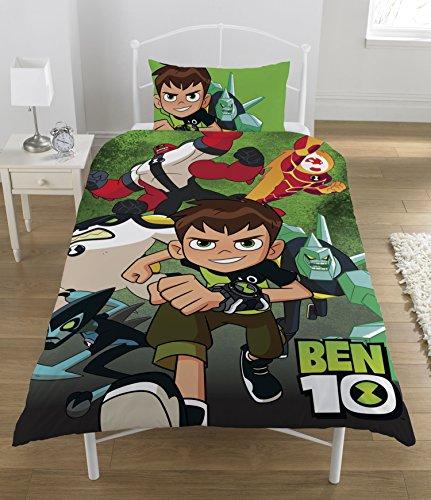 Ben 10Bettwäsche-Set, Polyester-Baumwolle, Design Multi, für Einzelbett