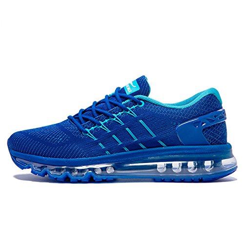 ONEMIX Uomo Air Scarpe da Ginnastica Basse Sportive Running Basket Sneakers Blu 43