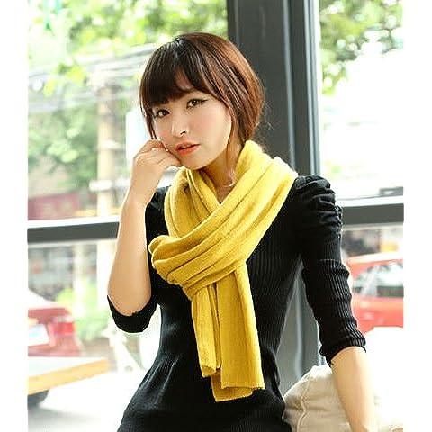 Plano de Señoritas MEICHEN otoño/invierno bufanda de lana mujeres parejas hombres bufanda ,Amarilla