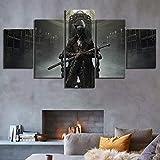 ZhuJingGege 5 Imprimée sur Toile Vieux Chasseur Salon Appartement Décoration Photos d'art 5 Parties 150Cmx80Cm...