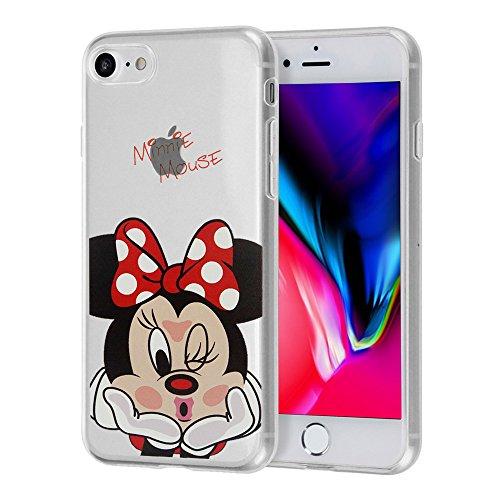 ShopInSmart® Transparente Silikon TPU Handy Schutzhülle mit Motiv Cartoon Disney Fröhliche Weihnachten! für Apple iPhone 8 4.7