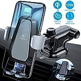 VANMASS Wireless Charger Auto Handyhalterung Automatisch Motor Betrieb 10W Kfz Induktive Ladestation 2 in 1 LED mit Lüftung & Saugnapfshalter für iPhone XS/X/8P Galaxy S9/S8/S10 und andere Qi Fähige