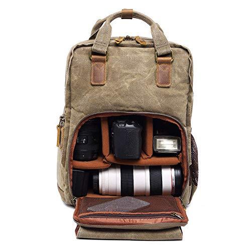 Mingfa 2019 Kamera-Rucksack, Vintage, wasserdicht, für Kamera, Objektiv, Laptop und Zubehör