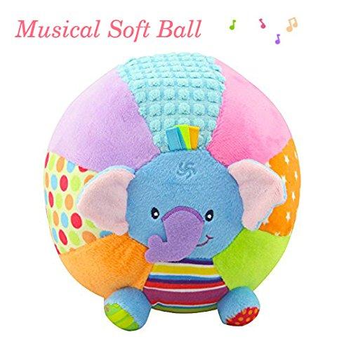 descubra Pelota Musical bebé Suave Bola de Peluche Lindos Elefantes Animales Educación...