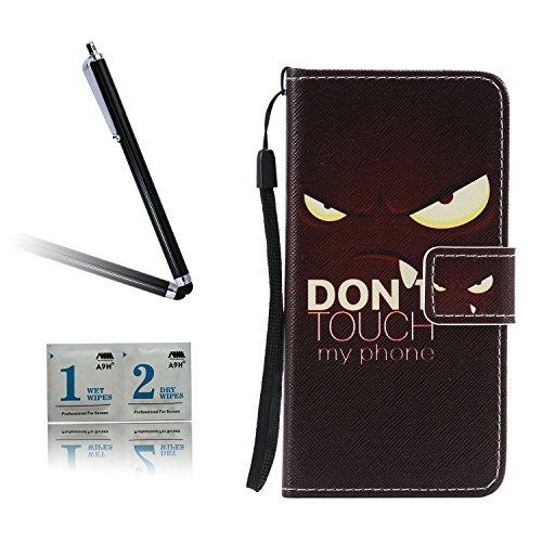 ARTLU® BQ Aquarius M5.0 Schlinge Taschen Schalen PU Leder Tasche Schutzhülle Hülle Handy Etui Schale mit Ständerfunktion und Kreditkartenfächer für BQ Aquaris M5 (5.0 inches)A06